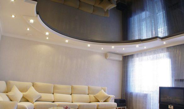 купить глянцевые натяжные потолки Могилев фото