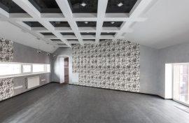 многоуровневый глянцевый потолокфотография