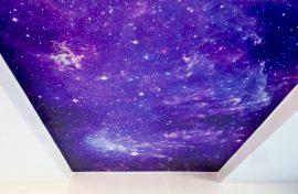 купить натяжной потолок звездное небо фотография