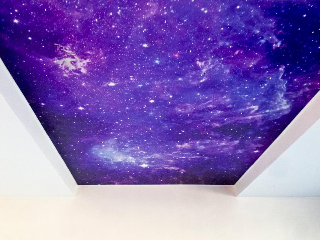 натяжной потолок звездное небо фотографии своем посте она